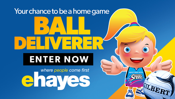 Enter now for your chance to become the E Hayes Ball Deliverer at a Steel Home Game